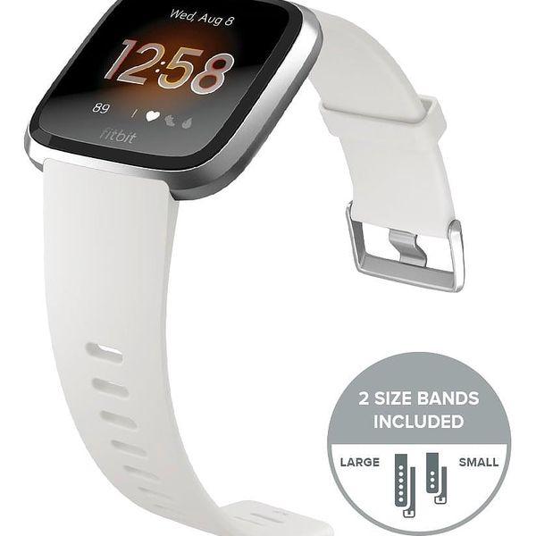Chytré hodinky Fitbit Versa Lite - White Band / Silver Case (FB415SRWT)4