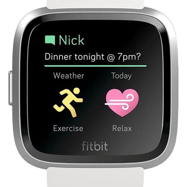 Chytré hodinky Fitbit Versa Lite - White Band / Silver Case (FB415SRWT)5