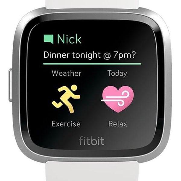 Chytré hodinky Fitbit Versa Lite - White Band / Silver Case (FB415SRWT)