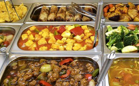 300g porce jídla z asijského vege bufetu