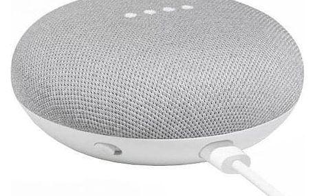 Hlasový asistent Google Home mini Chalk bílý + dárek Adaptér C-Tech univerzální, 110 - 230V, EU, US, AU bílý