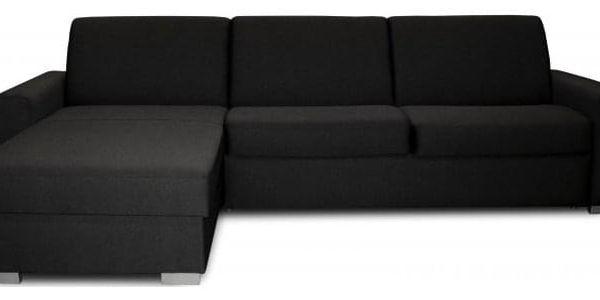 Rohová sedačka rozkládací Nina levý roh ÚP černá