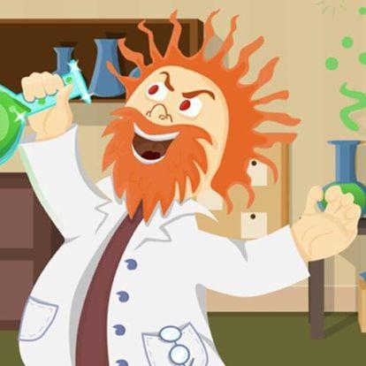 Dětská úniková hra Šílený vědec pro 2 až 5 hráčů