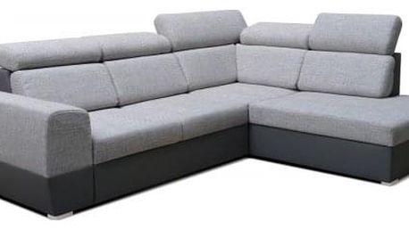 Rohová sedačka rozkládací Matrix pravý roh ÚP šedá