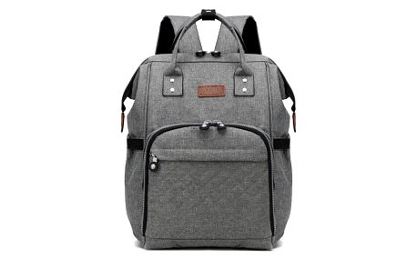 Mateřský šedý batoh na kočárek Blanche 6705