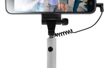 Selfie tyč FIXED Snap Mini - stříbrná stříbrná (FIXSS-SNM-SL)