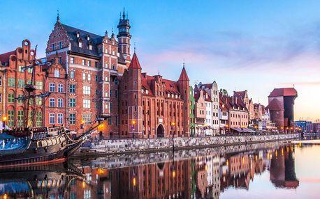 Historický Gdaňsk s polpenziou 100 metrov od pláže