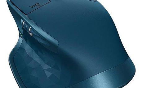 Logitech MX Master 2S modrá / Darkfield / 7 tlačítek / 4000dpi (910-005140)
