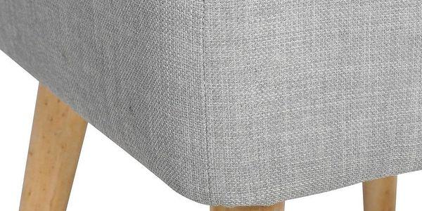 Atmosphera Créateur d'intérieur Taburet s pohodlným sedákem, čalouněná stolička se skvěle uplatní v každé místnosti2