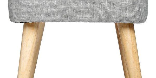 Atmosphera Créateur d'intérieur Taburet s pohodlným sedákem, čalouněná stolička se skvěle uplatní v každé místnosti4