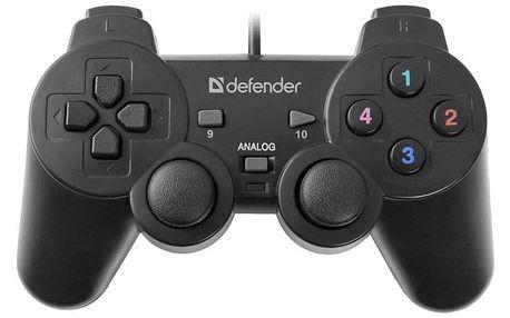 Gamepad Defender Omega pro PC černý (64247)