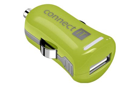 Connect IT InCarz COLORZ, 1x USB, 2,1A (V2) zelený (CI-1122)