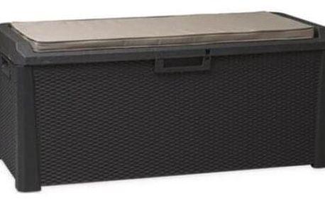 Multifunkční úložný box Santorini Plus šedá, 560 l