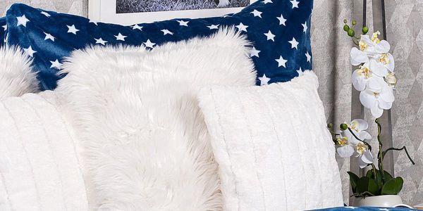 4Home povlečení mikroflanel Stars modrá, 140 x 200 cm, 70 x 90 cm, 140 x 200 cm, 70 x 90 cm4