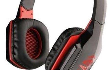 Headset C-Tech Raiden (GHS-03R), černo-červená černý (GHS-03R)