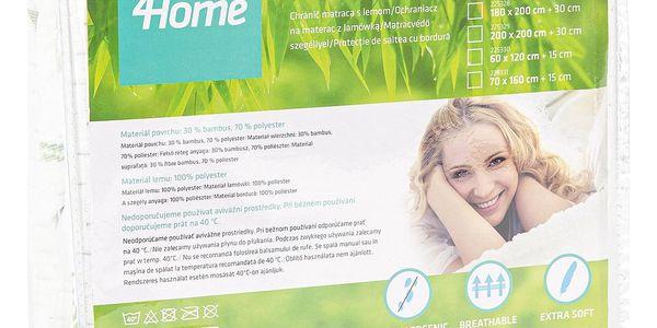 4Home Bamboo Chránič matrace s lemem, 200 x 200 cm5