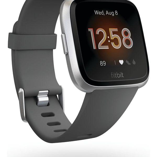 Chytré hodinky Fitbit Versa Lite - Charcoal Band / Silver Case (FB415SRGY)2