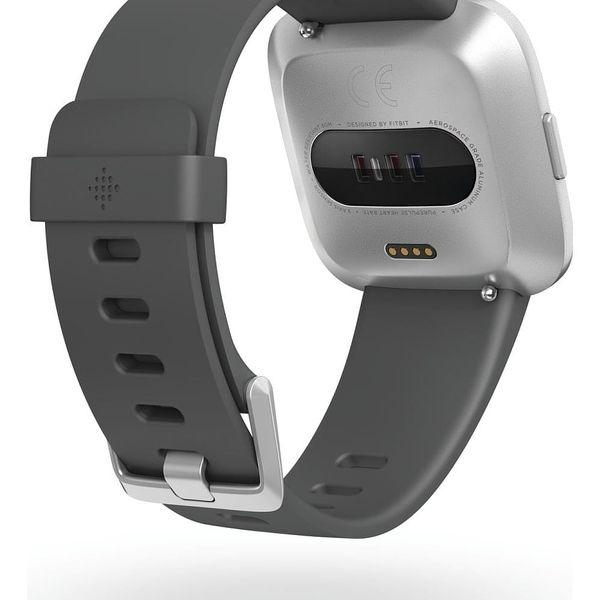 Chytré hodinky Fitbit Versa Lite - Charcoal Band / Silver Case (FB415SRGY)4