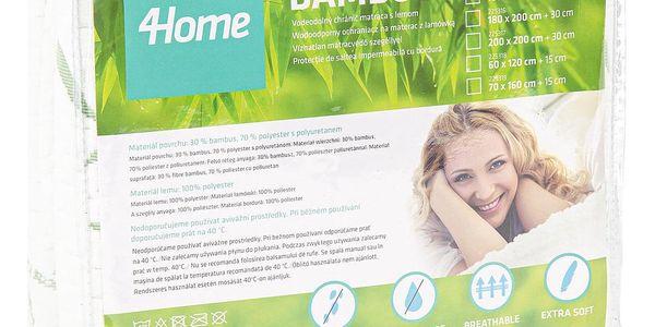4Home Bamboo Nepropustný chránič matrace s lemem, 200 x 200 cm5