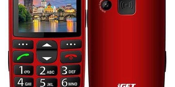 iGET SIMPLE D7 Single SIM červený (84000436)