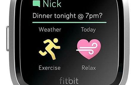Chytré hodinky Fitbit Versa Lite - Lilac Band / Silver case (FB415SRLV)