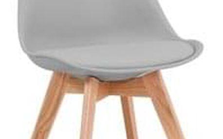 Jídelní židle KRIS buk/světle šedá