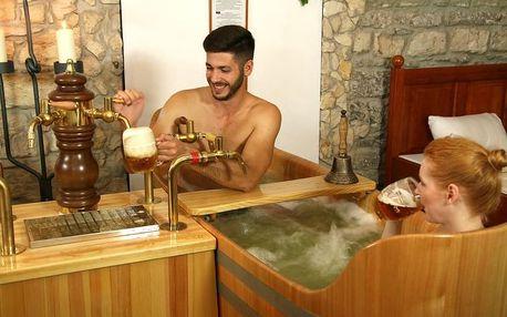 Privátní pivní lázně Bernard Praha s neomezenou konzumací piva