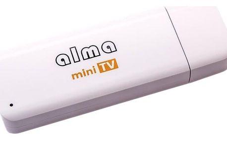 TV tuner ALMA mini TV, DVB-T2, H.265 bílá (DBTALH1USB121)