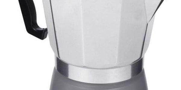 EH Excellent Houseware Tlakový šedý kávovar z hliníku ESPRESSO, 18x16x10 cm, 300 ml2