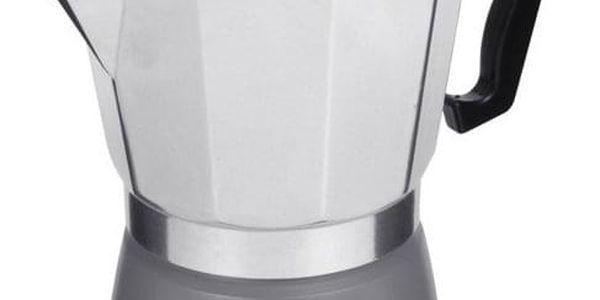 EH Excellent Houseware Tlakový šedý kávovar z hliníku ESPRESSO, 18x16x10 cm, 300 ml