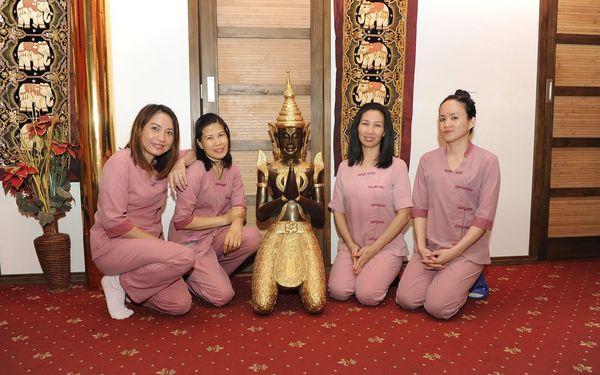 60 minut: Thajská masáž, masáž nohou nebo masáž aromatickými oleji2