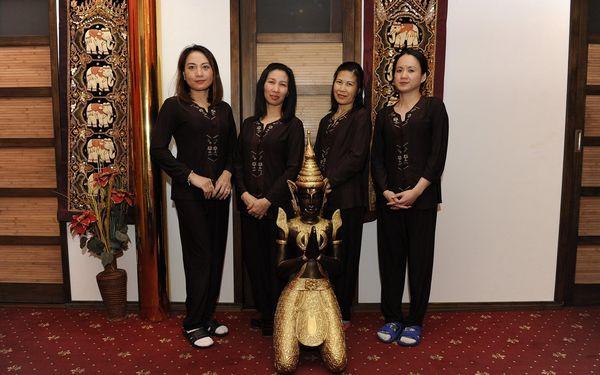 60 minut: Thajská masáž, masáž nohou nebo masáž aromatickými oleji4