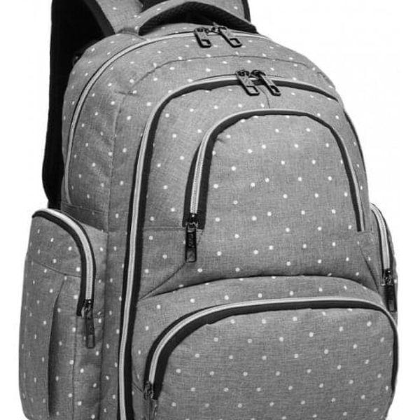 SET: Mateřský šedý batoh na kočárek Dario 6706D25