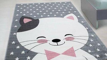 Vopi Kusový dětský koberec Kids 550 pink, 80 x 150 cm