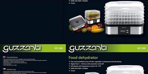 Sušička ovoce Guzzanti GZ 508 nerez + DOPRAVA ZDARMA5