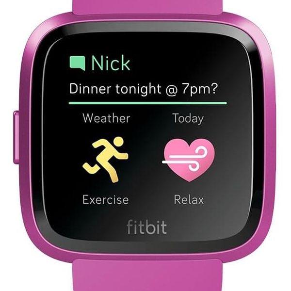 Chytré hodinky Fitbit Versa Lite - Mulberry Case / Mulberry Band (FB415PMPM)2