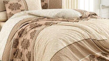 BedTex Bavlněné povlečení Harem béžová, 140 x 200 cm, 70 x 90 cm, 140 x 200 cm, 70 x 90 cm