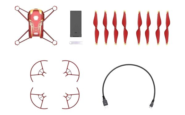 Dron Ryze Tech Tello - Iron Man Edition červený/zlatý5