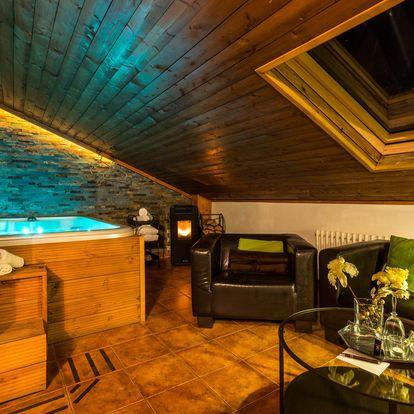VIP apartmá s vlastní vířivkou a kinotelevizí na 1 noc pro 2