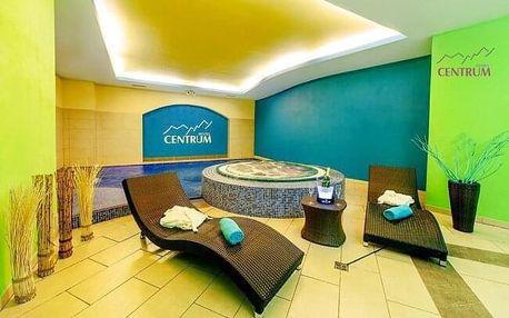 Krkonoše v Hotelu Centrum Harrachov *** s polopenzí, wellness a procedurami