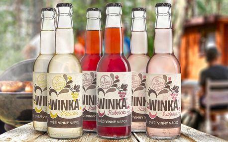 Osvěžující vinný nápoj Winka®: 6 kusů a 3 příchutě
