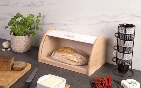 Dřevěný chlebník, box na chleba, 39x25x21cm, ZELLER