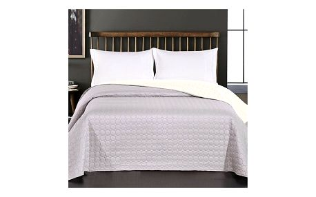 DecoKing Přehoz na postel Salice světle šedá, 220 x 240 cm