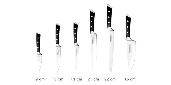 Tescoma Blok na nože AZZA, se 6 noži 884596.002