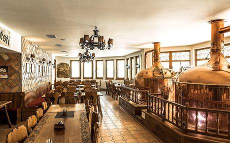 Hotel Pivovarská bašta ve Vrchlabí s polopenzí a degustací v pivovaru