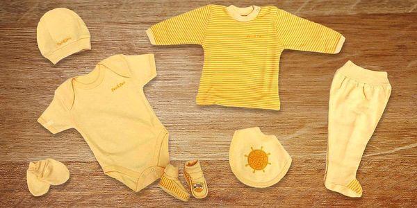 2–7dílné sety bavlněného oblečení pro miminka