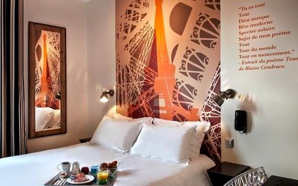 Romantický pobyt v Paříži v hotelu se 100% doporučením 3 dny / 2 noci, 2 os., snídaně4
