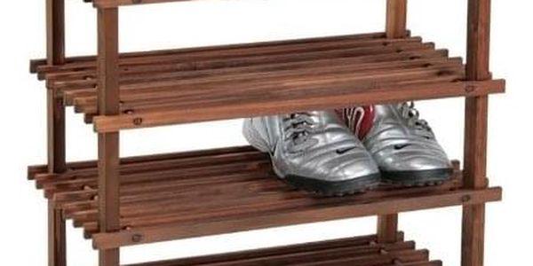 Kesper Vysoký botník z jedlového dřeva, objemný a skladný regál na boty se čtyřmi policemi3