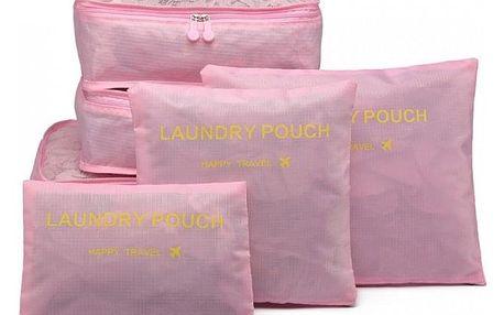 Světle růžové cestovní organizéry Aria 6874