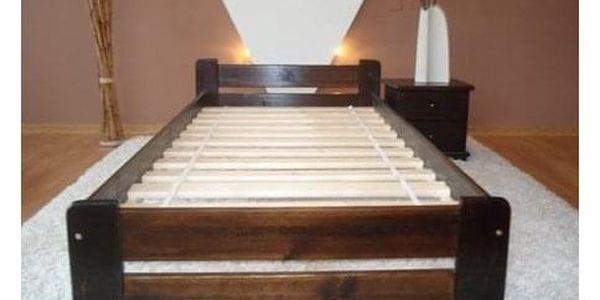 Vyvýšená masivní postel Euro 80x200 cm včetně roštu Borovice3
